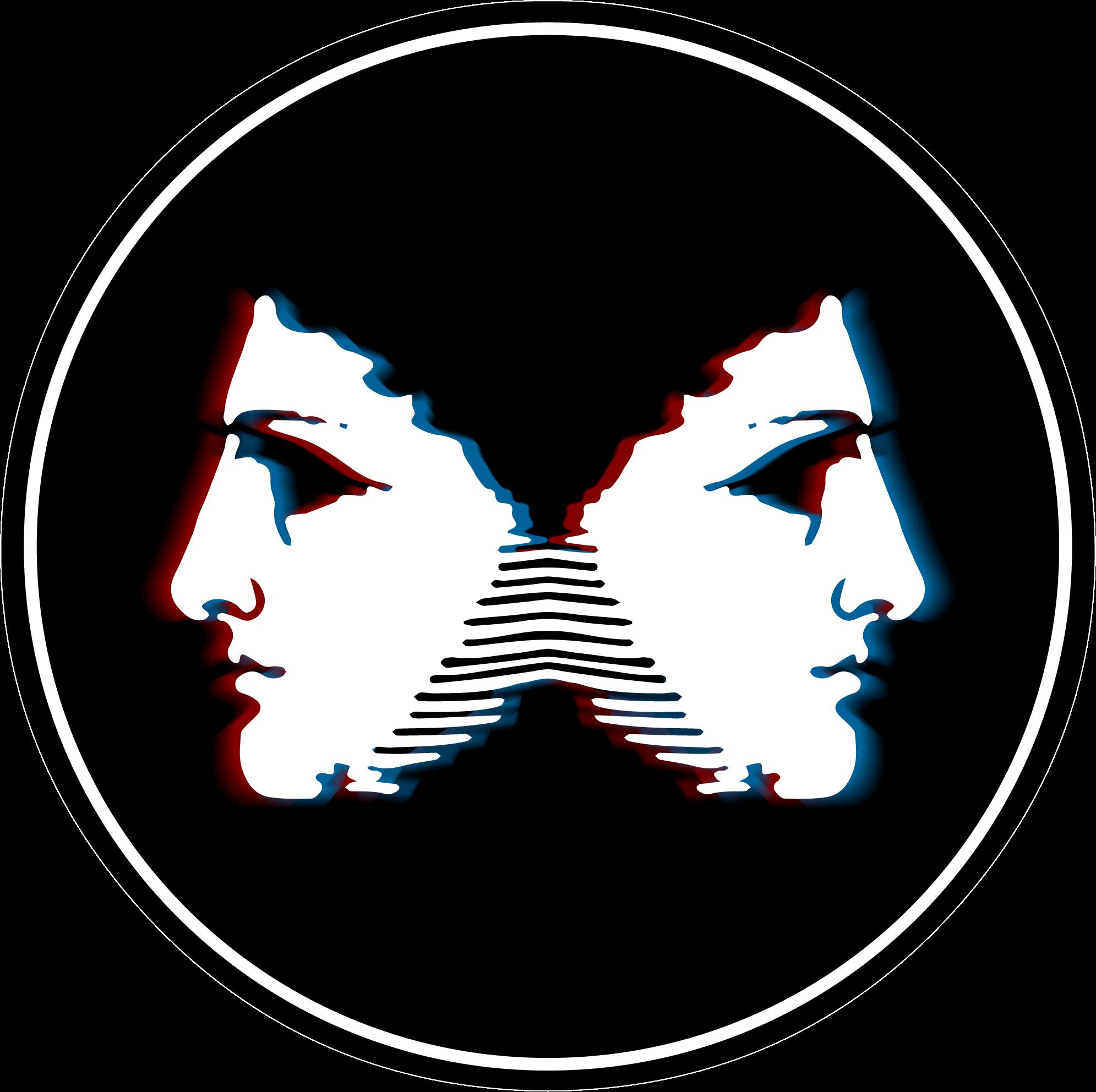 Left Right Logo Coin